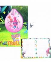Kinder dagboek trolls trollen met slotje