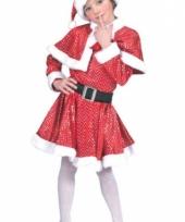 Kinder kerst jurkje met cape