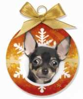 Kinder kerstbal chihuahua