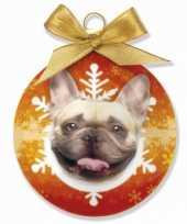 Kinder kerstbal franse bulldog