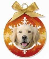 Kinder kerstbal golden retriever