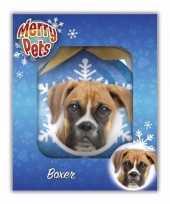 Kinder kerstbal hondje boxer