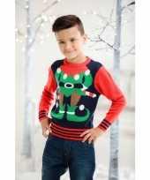 Kinder kerstmis trui hulpje van de kerstman