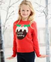 Kinder kerstmis trui little pudding