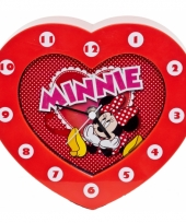 Kinder klokken minnie mouse rood