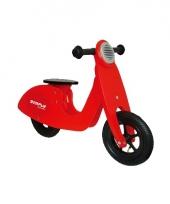 Kinder loopfiets scooter van hout