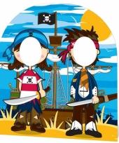 Kinder piraten feestje foto bord