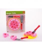 Kinder speelgoed taart roze