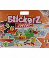 Kinder stickers voor autoraam oranje