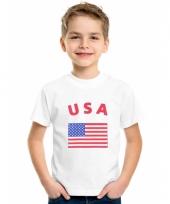 Kinder t-shirts van vlag amerika