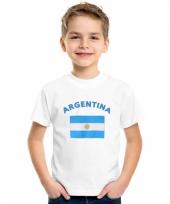 Kinder t-shirts van vlag argentinie