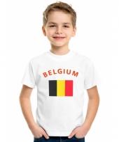 Kinder t-shirts van vlag belgie