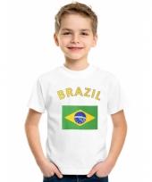 Kinder t-shirts van vlag brazilie