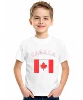 Kinder t-shirts van vlag canada