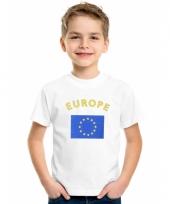 Kinder t-shirts van vlag europa