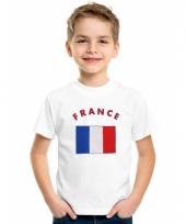 Kinder t-shirts van vlag frankrijk