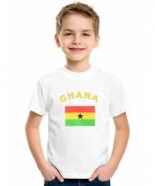Kinder t-shirts van vlag ghana