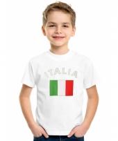 Kinder t-shirts van vlag italie