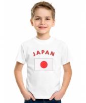Kinder t-shirts van vlag japan