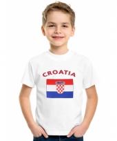 Kinder t-shirts van vlag kroatie
