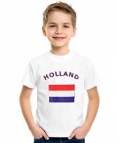 Kinder t-shirts van vlag nederland