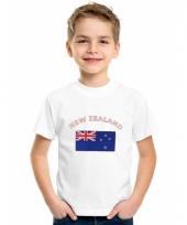 Kinder t-shirts van vlag nieuw zeeland
