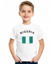Kinder t-shirts van vlag nigeria