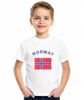 Kinder t-shirts van vlag noorwegen