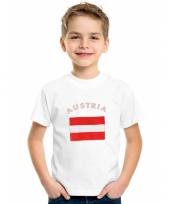 Kinder t-shirts van vlag oostenrijk