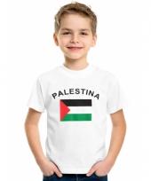 Kinder t-shirts van vlag palestina
