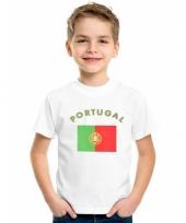 Kinder t-shirts van vlag portugal