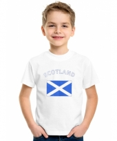 Kinder t-shirts van vlag schotland