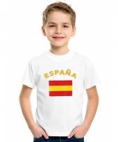 Kinder t-shirts van vlag spanje