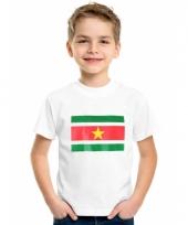 Kinder t-shirts van vlag suriname