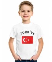 Kinder t-shirts van vlag turkije