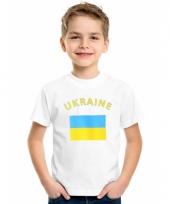 Kinder t-shirts van vlag ukraine