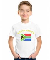 Kinder t-shirts van vlag zuid afrika