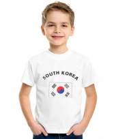 Kinder t-shirts van vlag zuid korea