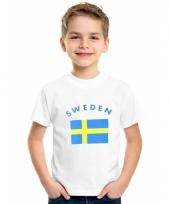 Kinder t-shirts van vlag zweden