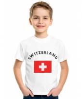 Kinder t-shirts van vlag zwitserland