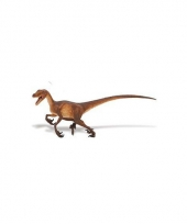 Kinder velociraptor van plastic 21 cm