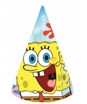 Kinderfeest hoedjes spongebob