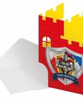 Kinderfeest uitnodigingen ridder