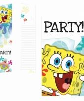 Kinderfeest uitnodigingen spongebob