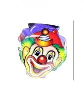 Kinderfeestje clownmaskers 4x