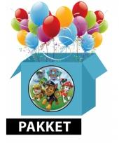 Kinderfeestje paw patrol feestpakket