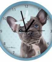 Kinderkamer klok franse bulldog hond 25 cm 10090065