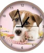 Kinderkamer klok jack russell hond 25 cm