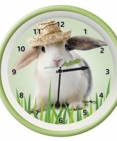Kinderkamer klok konijn 25 cm