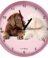Kinderkamer klok labrador hondjes 25 cm